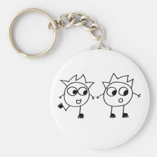 Mathberries Blading Buddies Basic Round Button Key Ring