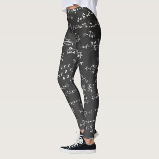 Mathematic Formulas and Numbers Gym Workout Yoga Leggings