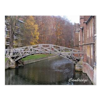 Mathematical bridge postcard