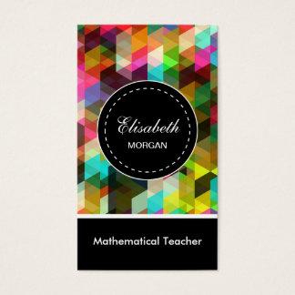 Mathematical Teacher- Colorful Mosaic Pattern