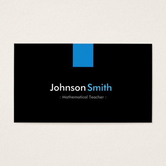 Mathematical Teacher Modern Aqua Blue Business Card
