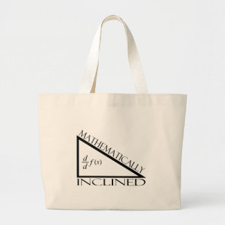 Mathematically Inclined Large Tote Bag