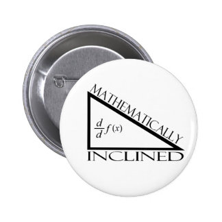 Mathematically Inclined Pinback Buttons
