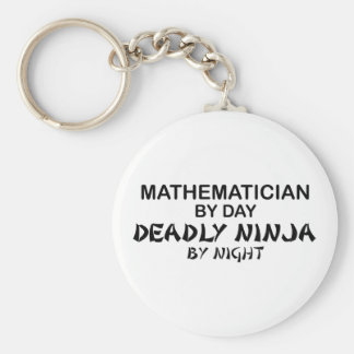 Mathematician Deadly Ninja by Night Basic Round Button Key Ring
