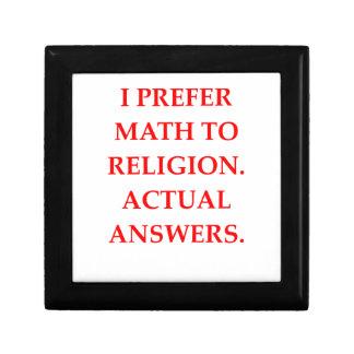 mathematician small square gift box