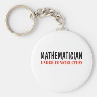 Mathematician _ under construction basic round button key ring