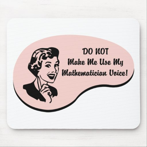 Mathematician Voice Mouse Pad