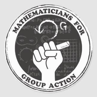 Mathematicians for Group Action Stickers