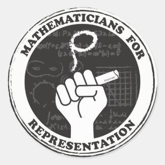 Mathematicians for Representation stickers