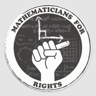 Mathematicians for Rights stickers