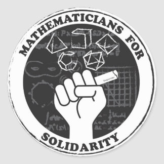 Mathematicians for Solidarity Stickers