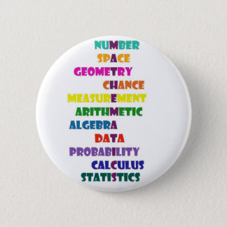Mathematics 6 Cm Round Badge