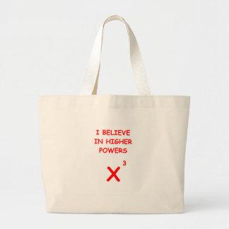 mathematics canvas bag