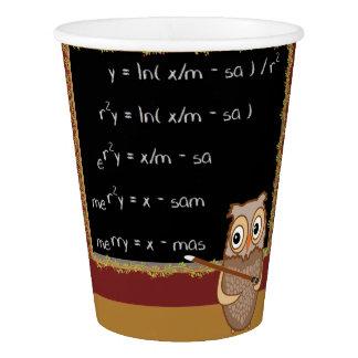 Mathematics Christmas Wish Paper Cup