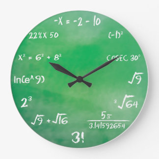 Mathematics Equation Quiz for Geeks Wall Clock