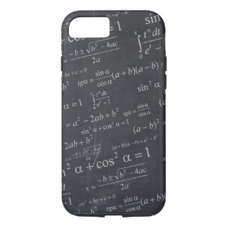 Mathematics Formulas on Chalkboard - Funny & Cool iPhone 8/7 Case