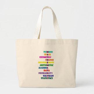 Mathematics Large Tote Bag