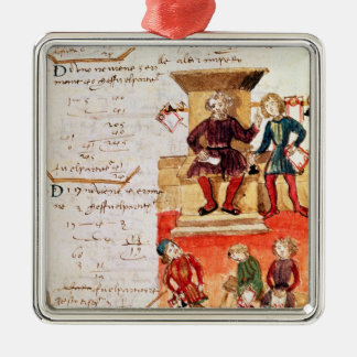 Mathematics Lesson, from a mathematical treatise Christmas Ornament