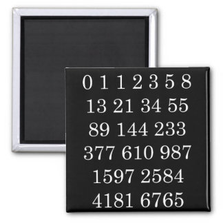 Mathematics Magnet Fibonacci Sequence Numbers