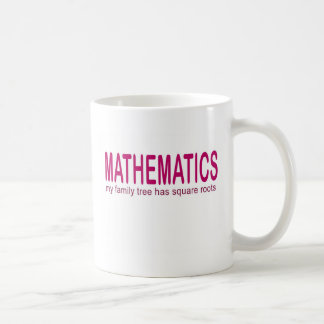 Mathematics _ my family tree has square roots basic white mug