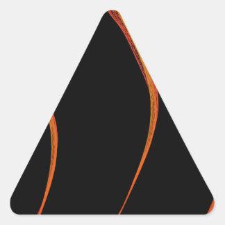 Mathematics Mystery Flames Triangle Sticker