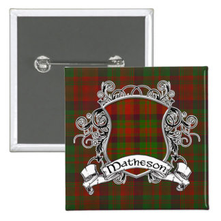 Matheson Tartan Shield 15 Cm Square Badge