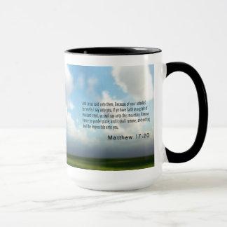 Mathew 17 : 20 mug