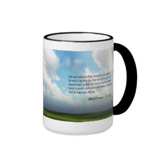 Mathew 17 : 20 ringer mug