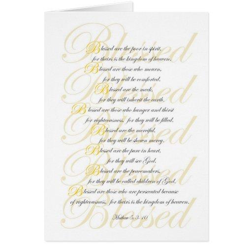 Mathew 5: 3-10 card