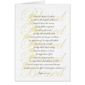 Mathew 5: 3-10 greeting card