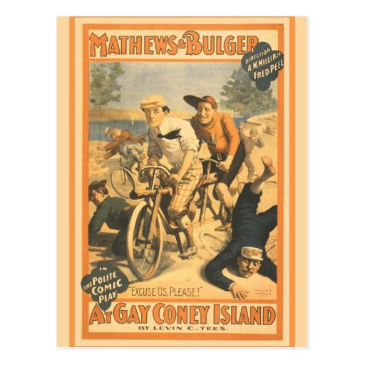 Mathew and Bulger at Gay Coney Island Post Card