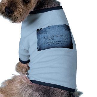 Mathew Brady  - Famed Civil War Photographer Dog Tee Shirt
