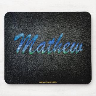 MATHEW Personalised Leather-look Mousepad