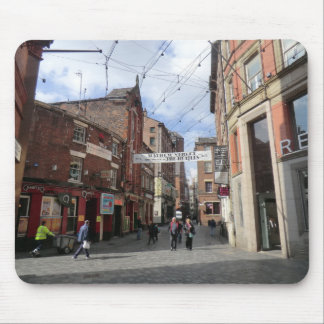 Mathew Street in Liverpool Mouse Pad