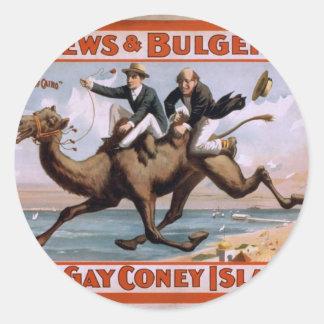 Mathews Bulger At Gay Coney Island Vintage Th Stickers