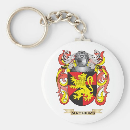 Mathews Coat of Arms (Family Crest) Key Chains