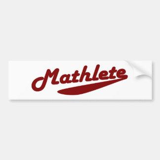 Mathlete Car Bumper Sticker