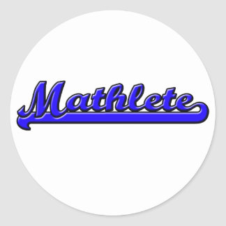 Mathlete Classic Round Sticker