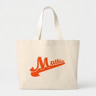Mathlete slogan for math lovers jumbo tote bag