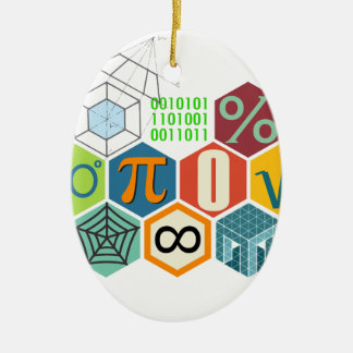 maths ceramic oval decoration