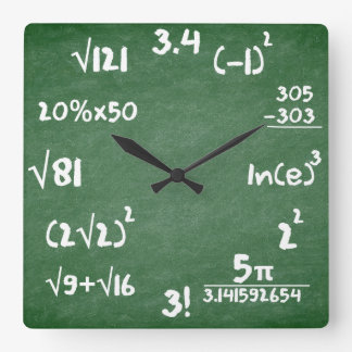Maths Clock for Mathematics Lovers
