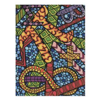 Maths Geek Doodle Postcard