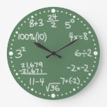 Maths Mathematical Equations Clock with Minutes