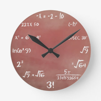 Maths Quiz Clock - Brown Medium