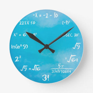 Maths Quiz Clock - Clock Blue