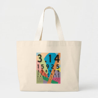 Maths: the colorful mathematical constant of Pi Tote Bag