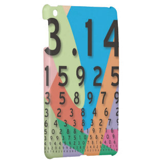 Maths: the colorful mathematical constant of Pi Case For The iPad Mini