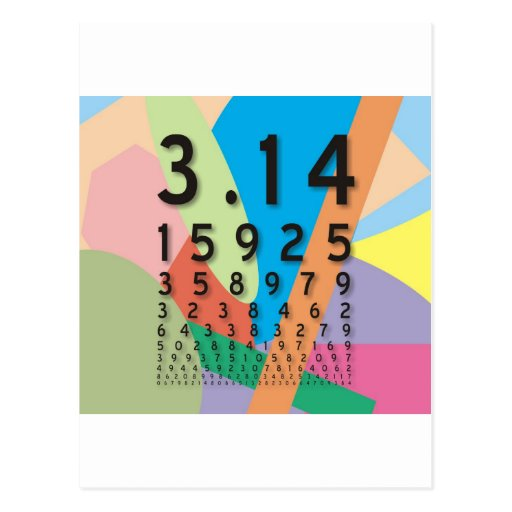 Maths: the colorful mathematical constant of Pi Postcard