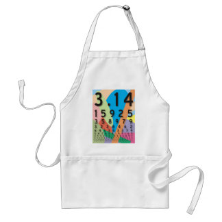 Maths: the colorful mathematical constant of Pi Standard Apron