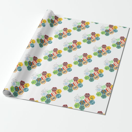 maths wrapping paper